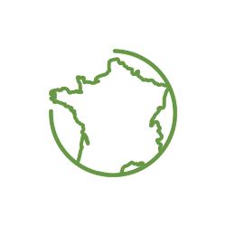 carte france vert