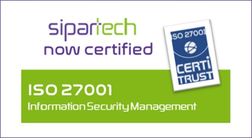 SIPARTECH IS CERTIFIED iso 27001