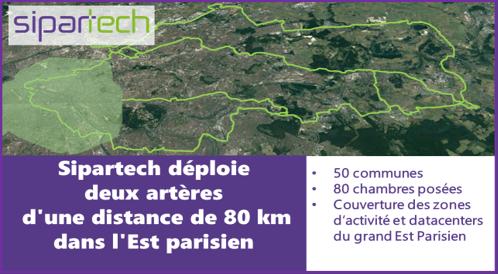 SIPARTECH DEPLOIE DEUX ROUTES DE 80 KM DANS L EST PARISIEN