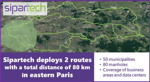 Sipartech deploys 2 routs Eastern Paris