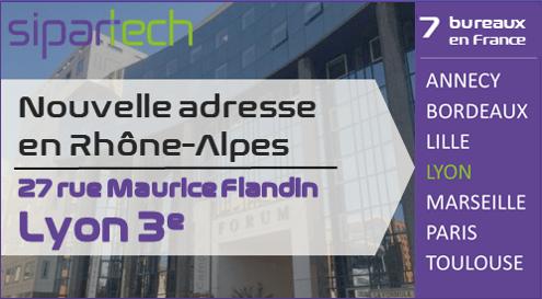 Sipartec nouvelle adresse en Rhone-Alpes